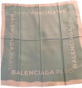 Balenciaga 100% Silk Light Teal Scarf
