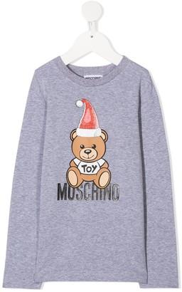 MOSCHINO BAMBINO Logo Teddy Print Top