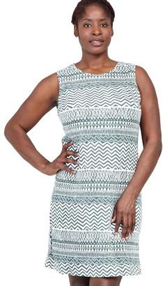 M&Co Izabel Curve aztec print shift dress