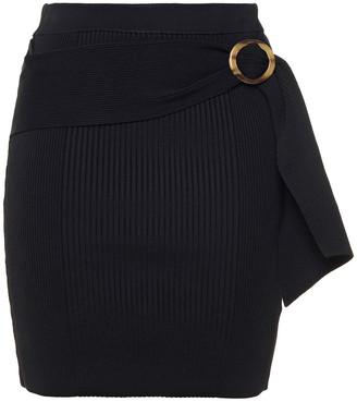Jonathan Simkhai Jenny Belted Ribbed-knit Mini Skirt