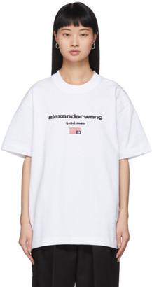 Alexander Wang White Logo Flag T-Shirt