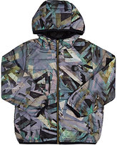 Someday Soon Geometric-Print Channel-Quilted Jacket