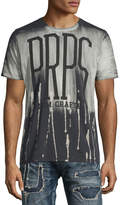 PRPS Paint-Drip Logo Short-Sleeve T-Shirt, Black
