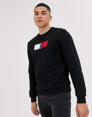 Tommy Hilfiger x Lewis Hamilton Capsule chest flag logo sweatshirt in black