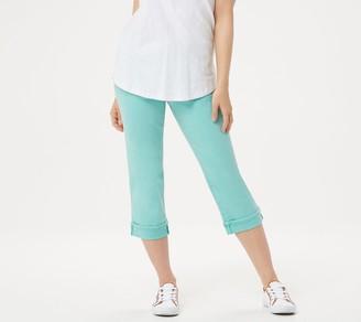 NYDJ Marilyn Crop Jeans w/ Cuff Detail -Blue Daisy