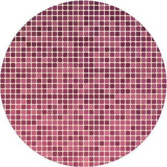 East Urban Home Elodia Geometric Wool Pink Area Rug Rug Size: Runner 2' x 5'