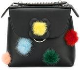 Fendi pompom backpack - women - Leather/Mink Fur - One Size