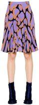 Marco De Vincenzo Printed Pleated Sablé Skirt