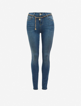 Ted Baker Starel belted skinny mid-rise jeans