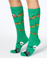 Charter Club Women's Flying Santa Knee-High Socks, Created for Macy's