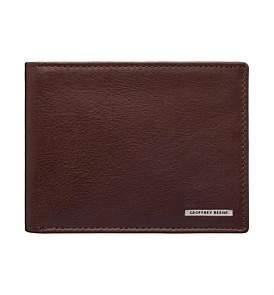 Geoffrey Beene L-Fold Leather Wallet W/ Id Window Coin Pouch