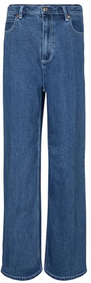 Tory Burch High-rise wide-leg jeans