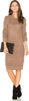 Bobi Cashmere Cowl Neck Sweater Dress