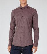 Reiss Rouge Melange Weave Shirt