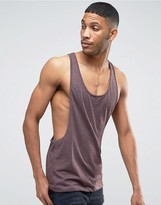 Asos Tank With Extreme Dropped Armhole And Racer Back