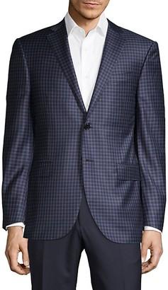 Corneliani Classic-Fit Tri-Color Mini-Check Jacket