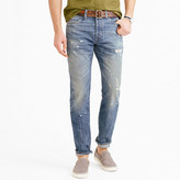 J.Crew Wallace & Barnes slim selvedge jean in Cone Denim® with destroyed wash