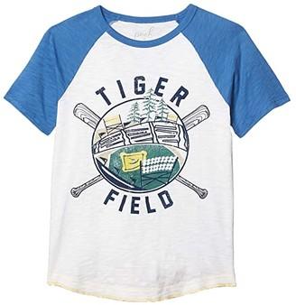 PEEK Arlo Tiger Field Tee (Toddler/Little Kids/Big Kids) (Cream) Boy's T Shirt
