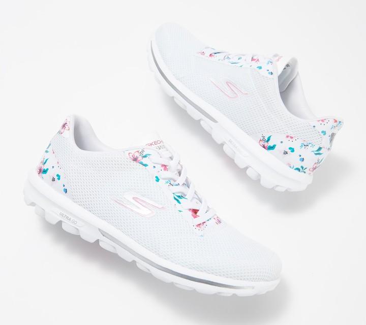 Skechers Go Walk Floral Print Bungee