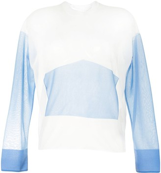 PortsPURE Two-Tone Sheer Top