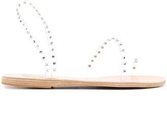 Ancient Greek Sandals Crystal Embellishment Sandals