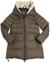 Duvetica Nylon Down Coat W/ Faux Shearling