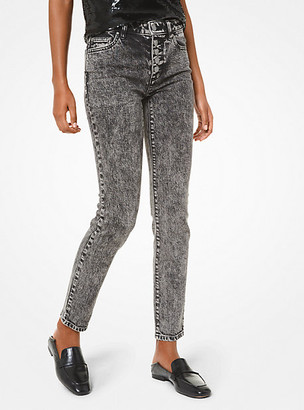 MICHAEL Michael Kors Stretch-Cotton Acid Wash Jeans