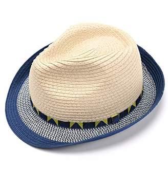 accsa Toddler Kid Boy Fedora Straw Panama Derby Sunhat Short Brim