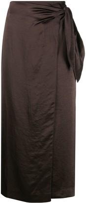 Nanushka Amas satin sarong skirt