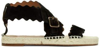 Chloé Black Suede Strap Sandals