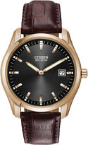 Citizen Eco-Drive Mens Brown Leather Watch AU1043-00E