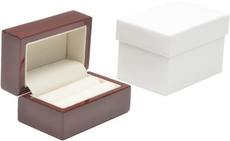 Montreal Gloss Brown Wooden Double Ring Box