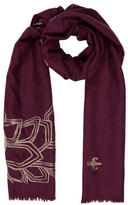 House Of Waris Embroidered Cashmere Scarf