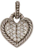 Judith Ripka Pavé Diamond Heart Pendant