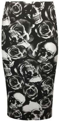 H.A.A.S Ladies Printed Bodycon Pencil Skirt Womens High Waist Tube Skirt Midi Dress (XXXL (UK 24-26)