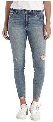 KUT from the Kloth Connie High-Rise Ankle Skinny w/ Raw Hem in Willpower (Willpower) Women's Jeans