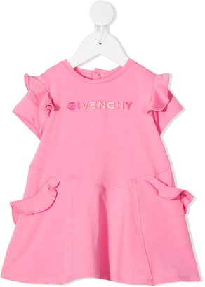 Givenchy Kids Embroidered-Logo Jersey Dress