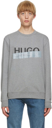 HUGO BOSS Grey Logo Sweatshirt