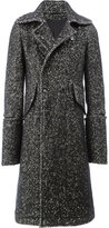 Ann Demeulemeester lond double breasted coat - men - Cotton/Linen/Flax/Nytril/Virgin Wool - S