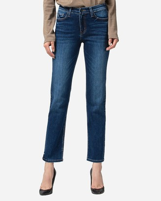 Express Flying Monkey Mid Rise Straight Jeans