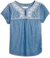 Roxy Summer Feels Embroidered Boho Cotton Top, Toddler & Little Girls (2T-6X)