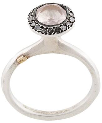 Rosa Maria Belquis diamond and quartz ring