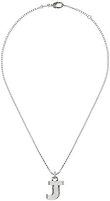 "Gucci Silver ""J"" letter necklace"