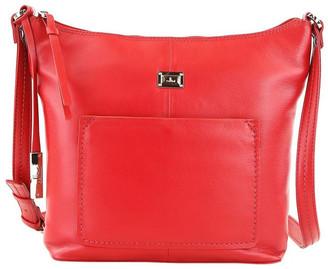 Cellini CLQ213 Ridgeway Zip Top Red Crossbody Bag
