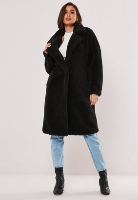 Missguided Borg Teddy Oversized Coat