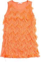 Billieblush Fringed Cotton Jersey Dress