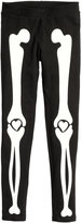 H&M Leggings with Printed Design - Black/white - Kids