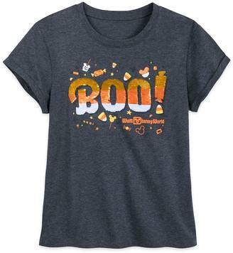 Disney Walt World Halloween Reversible Sequin T-Shirt for Women