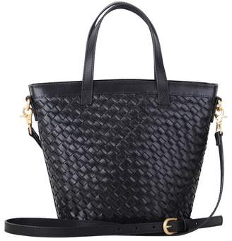 Most Wanted Design by Carlos Souza Modified Carry All Essential Woven Leather Crossbody Bag