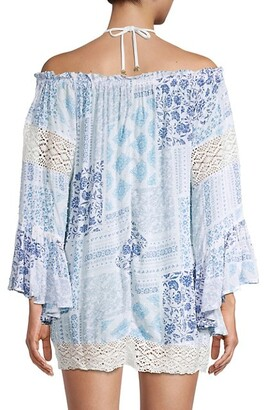 Surf.Gypsy Swiss Dot Crochet Trim Cover-Up Top
